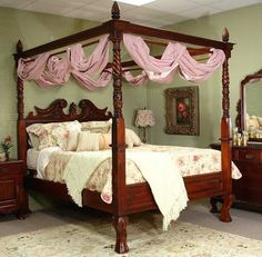 4 poster king size bed - Google Search