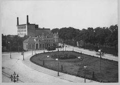 Groningen<br />De stad Groningen: Het Stationsplein gezien naar het westen in 1913.
