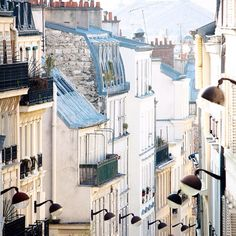 Monmartre rooftops looking down from rue des abbesses My first and second apartments were in Monmartre and will always hold a special place in my heart