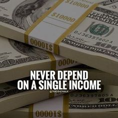 Never depend on a single income Trading Walk . Simple Candlestick Trading Strategy, Strategies, Tips And Education . Positive Quotes, Motivational Quotes, Inspirational Quotes, Business Motivation, Business Quotes, Motivation Success, Success Quotes, Life Quotes, Citations Business