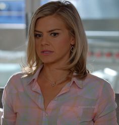 42def1957d Jane s pink plaid shirt on Happy Endings