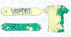 Design Challenge hosted by Threadless:  Your challenge is create a design for the top of a snowboard and a t-shirt to wear while riding it! Use the same design for both, or create two complementary designs. There are no restrictions or color limits for your snowboard design. The wilder, the crazier, and the gnarlier, the better!     http://atrium.threadless.com/snowboards/
