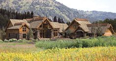 Coeur d'Alene Lodge Timber Frame Home floorplan