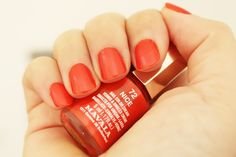 Mavala - Nice. Part of my European stash. I love Mavala polishes, they all wear a city's name and their small bottle keep their price small and the polish from drying! This is a bright reddish orange, very pretty in the summer.