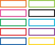 Use these non-adhesive Colorful Labels on pocket charts, boxes, bins, or student folders. 120 labels: 4 perforated labels per sheet, 30 sheets per pack. Each piece measures x
