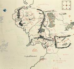 Bodleian Libraries adquiere el mapa de la Tierra Media anotado por J.R.R. Tolkien