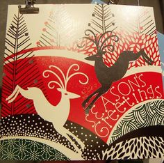 2010 print  pattern: PAPERCHASE - xmas cards 3