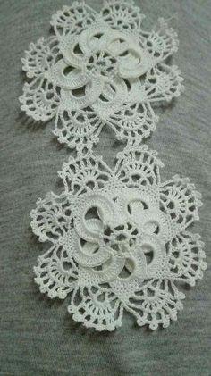 Crochet Lace Edging, Crochet Squares, Crochet Doilies, Crochet Flowers, Knit Crochet, Crochet Patterns, Tatting, Crochet Necklace, Boho