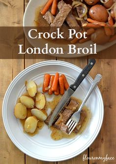 Moist and delicious Crock Pot London Broil recipe. A fix it and forget it family recipe that will have them coming back for more.