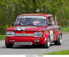 Vintage race touring car NSU 1200 TT from 1971 at Grand Prix in Mutschellen, SUI on April 29, 2012. - Stock Image