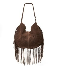 Look what I found on #zulily! T-Shirt & Jeans Brown Faux Suede Fringe Hobo by T-Shirt & Jeans #zulilyfinds