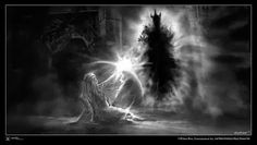 What would happen if Galadriel and Sauron met by accident? Would they duel in a song of power, like Finrod and Sauron did? - Quora