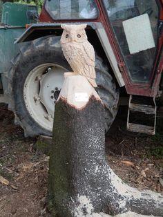 Baumstumpfgestaltung Eule