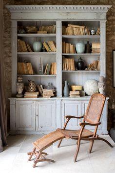 Bookcase Inspo at La Bastide de Marie  // Via stacieflinner.com