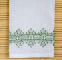 Tea Towel Dish Towel Swedish Weaving in Green