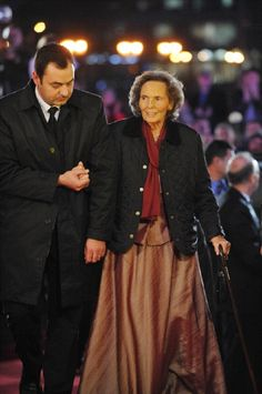 Queen Anne of Romania (R) attends the celebration concert of King Michael I of Romania for his 90's anniversary in Bucharest on 25 Oct 2011