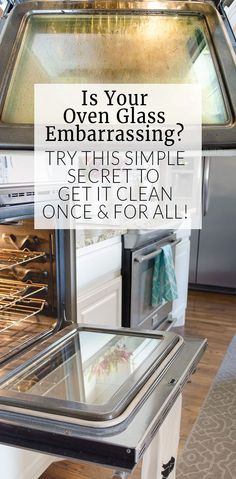 Cleaning oven glass doesn't have to take all day! This cleaning tip is so simple, I wish I would have thought of it!
