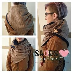 Andrea Komůrková's media content and analytics Sewing Clothes, Diy Clothes, Scoodie, Hooded Scarf Pattern, Trends 2016, Crochet Wool, Loop Scarf, Handmade Clothes, Scarf Styles