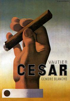 A.M. Cassandre 1935 http://blog.buchino.net/post/7657039172/vautier-cesar-by-a-m-cassandre-1935