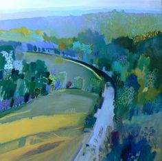 Wye Valley 2, oil on canvas, 90 x 90 cms, by Malcolm Ashman
