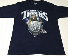 Tennessee Titans NFL Football Reebok T-Shirt Men Medium blue cotton tee  Spartan  Reebok adf127e31