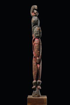 Male ancestor figure Papua New Guinea - Wosera