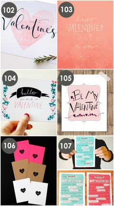 Valentine love notes and cards- all free!!