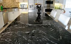 Amazing Titanium Granite Countertop Idea in Dark Theme Perfect for Kitchen Decorating Idea