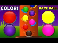 Colors for Children to Learn with Race Ball, Kids Learning Colours Video, Colors for Babies - YouTube