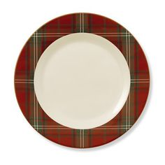 Red Tartan Charger #williamssonoma