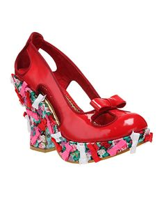 Another great find on #zulily! Red Giggly Woo Leather Pump by Irregular Choice #zulilyfinds