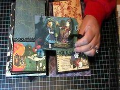 Halloween in Wonderland Mini Album! #graphic45 #minialbum #videos