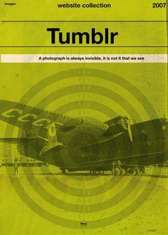 Retro-Werbung Pt. 2: #Twitter, #YouTube, #Facebook, #Tumblr & Co. im futuristischen 50er-Jahre-Stil