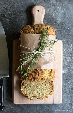 Lemon_Rosemary_Zucchini_Bread_Recipe ... GF .. Make it Vegan with Flax Egg Substitute