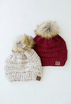 Adorable hats. Perfect for fall and winter.