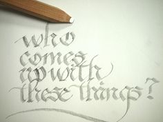Flat Point™ calligraphy