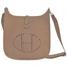 7799821f5c7 Pre-owned Hermes Etoupe Evelyne PM Messenger Leather Shoulder Handbag... (€