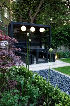Browse images of modern Garden designs: Pergola. Find the best photos for ideas & inspiration to create your perfect home., Pergola: garden by earth designs, modern solid wood multicolored Diy Pergola, Black Pergola, Outdoor Pergola, Pergola Kits, Pergola Ideas, Garage Pergola, Modern Pergola, Pergola Roof, Cheap Pergola