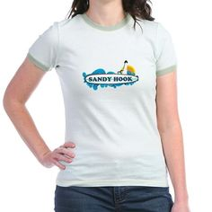 Sandy Hook NJ - Surf Design. T on CafePress.com