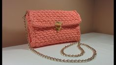 Easy DIY Crochet Stylish Chain Bag / Purse / Envelope Handbag made with ...