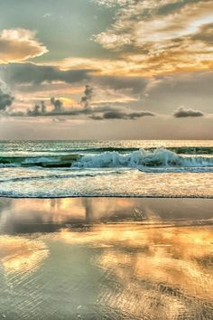 Golden Sunrise, summer morning at the beach by the sea.