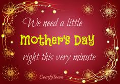 Is it just me? Or should there be ANOTHER Mother's Day right after the freaking holidays?