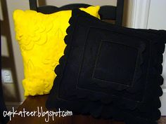 Someday Crafts: felt cushions.  Keep scrolling down to find instructions.