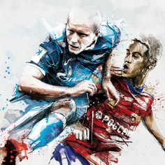' FC Zenit / Illustrations' by Florian Nicolle on behance.net.