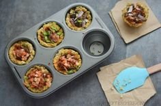 Paleo pizza cups allow your guests to build a cauliflower pizza with their favorite paleo pizza toppings.
