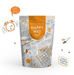 Top of the Choc (Choc Whey) Protein Powder Way,Happy Way Pouch Packaging, Cool Packaging, Food Packaging Design, Packaging Design Inspiration, Brand Packaging, Chocolate Protein Powder, Whey Protein Powder, Granola, Food Branding