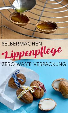 Kosmetik selbermachen: Lippenbalsam in Walnuss-Hälften Tortellini Skewers, Pesto Tortellini, Yummy Appetizers, Appetizer Recipes, Dried Dates, Taste Of Home, Fundraising Events, What To Make, Dried Tomatoes