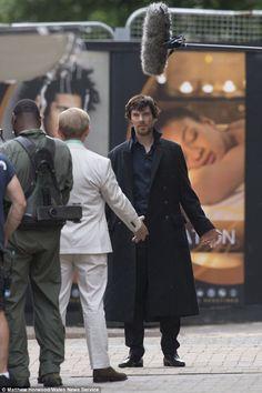 Setlock Series 4.Scruffy Sherlock, nice.  It looks like that lady on the poster is liking her proximity to Sherlock. jf