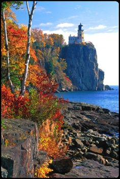 *Split Rock Lighthouse on North Shore of Lake Superior