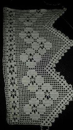 Easiest Crochet Frills Border Ever! Crochet Triangle, Crochet Lace Edging, Crochet Borders, Cotton Crochet, Filet Crochet, Crochet Doilies, Crochet Yarn, Crochet Stitches, Crocheted Lace
